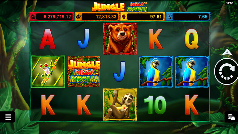 La Slot Jungle Mega Moolah arriva nei casinò Microgaming