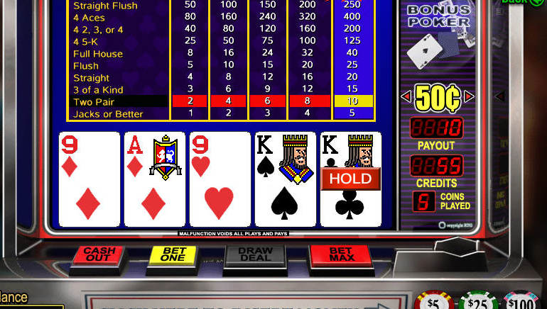 Low Limit Video Poker